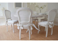 *** WOW *** LOW PRICE *** UNIQUE & BEAUTIFUL French Antique Shabby Chic Dining Table & Six Chairs !!