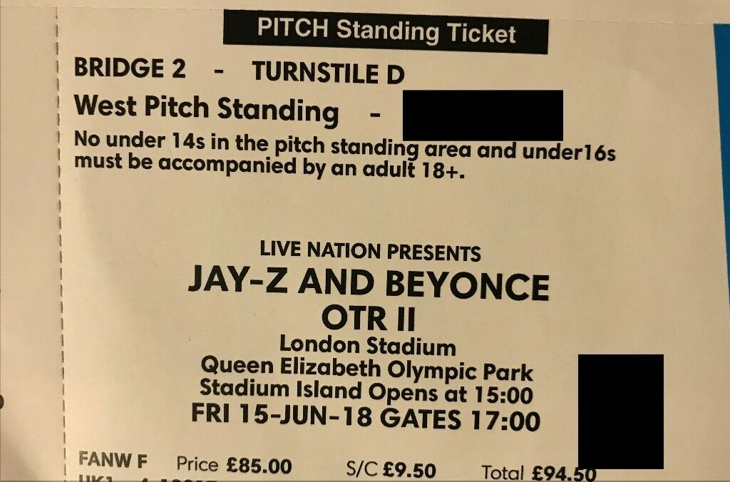 95 beyonce jay z london west pitch standing 15 june can meet 95 beyonce jay z london west pitch standing 15 june m4hsunfo