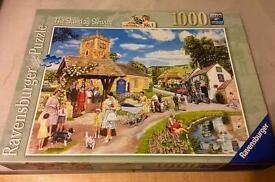 "Ravensburger 1000 Piece Jigsaw Puzzle "" The Sunday Service"""