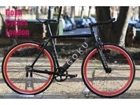 Special Offer GOKU cycles ALLOY / STEEL Frame Single speed road bike TRACK fixed gear bike ii99