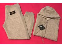 LT Grey Cotton Material Full Tracksuit