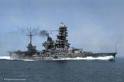 WW2 WWII Photo IJN Battleship Nagato Take Over by US Navy World War Two 7241