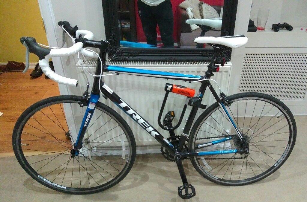 275c2605f00 Trek 1.1 H2 (2013) Road Bike with D Lock and Pump