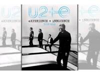 U2 tickets sse arena STHL5 row j 27th october 2018