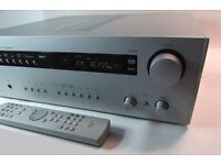 Arcam AVR100 5.1 Channel HiFi Receiver Amplifier Silver with Remote Control mint