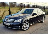 MERCEDES-BENZ C CLASS 1.8 C180 BLUEEFFICIENCY AMG SPORT 4d 155 BHP Apply (black) 2012