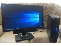 """STONE INTEL I5 QUAD CORE SLIM DESKTOP COMPUTER PC & 24"""" DELL WIDESCREEN MONITOR 8GB RAM 120GB SSD"""