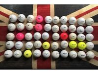 50x Golf Balls Titleist. Srixon etc Job Lot