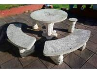 Concrete Outdoor Table & Chairs