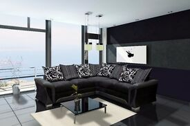 *COME AND VIEW IT ,TRY IT THEN BUY IT* BRAND NEW SHANNON CORNER SOFA SUITE BLACK,GREY OR BROWN