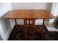 Solid pine gate legged dining table