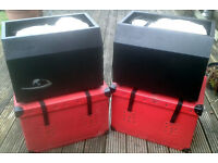 PAIR OF SOURCE DIABLO SILK FLAME/FIRE EFFECT LIGHTS & CASES.