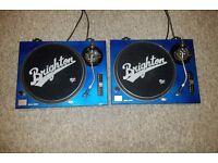 Pair of Technics 1210 mk II Turntables.