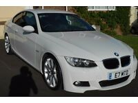 "BMW 3 Series 2.0TD 320d White M-Sport Coupe 2008 58' Plate 19"" Alloys"