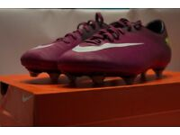 Purple Nike Mercurials in good condition with box.And stud key
