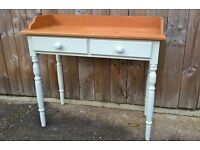 Pine Wash Stand hand painted and waxed