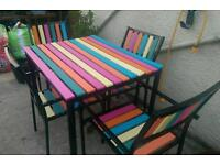 Gorgeous rainbow patio set