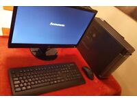 Lenovo H530s PC Desktop Computer (with Monitor & Wireless Keyboard/Mouse)
