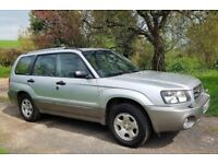 2004 SUBARU FORESTER X AWD ALL WEATHER 4x4 ESTATE, CRUISE CONTROL. SUN ROOF, FOG LIGHTS 90K