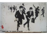 Banksy Canvas Wall Art - Take Me To Your Dealer