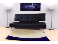 Black Sofa Bed 3 months old Excellent condition Free local delivery.