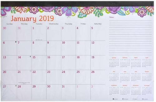 2019 Monthly Desk Calendar GREAT VALUE! (FLORAL DESIGN)
