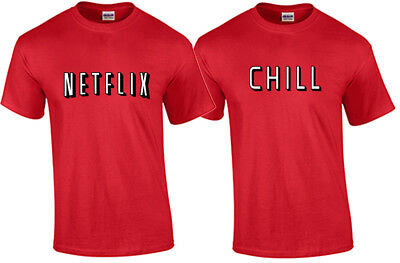 Halloween Netflix (Netflix and Chill Halloween Couples Costume T Shirt Funny Trick or Treat)