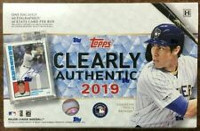 2019 Topps Clearly Authentic Baseball Factory Sealed Hobby Box | 1 box | ENCASED