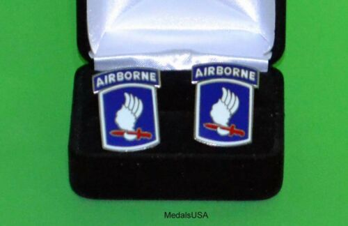 """173rd Airborne Brigade Cuff Links in Presentation Gift Box - Army """"Sky Soldiers"""""""