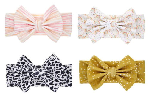 Adorable baby girl headband with bow, Set of 4 colors, Free Shipping