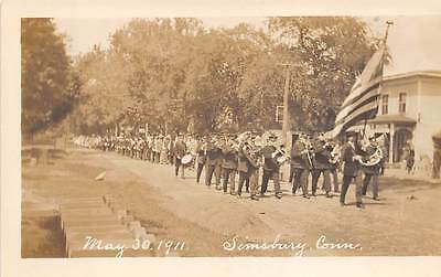 Simsbury  Ct  Decoration   Memorial Day Parade Goddard Real Photo Pc Dated 1911