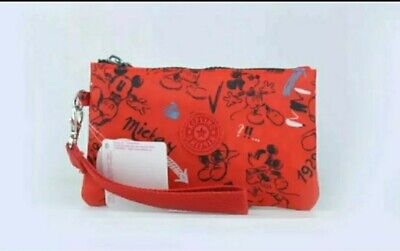 Ladies BNWT Limited Edition Disney Mickey Kipling Purse RRP £34.99 RARE RED