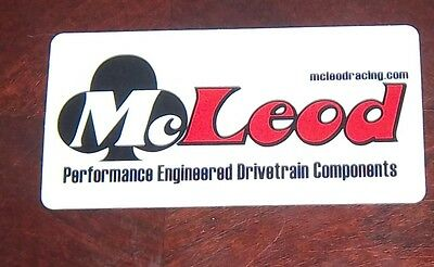 Decal Automotive OFF ROAD McLeod performance engineered drive train