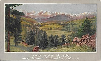 Continental Divide Co Nice Postcard Not Postally Used Union Pacific Rocky Mtn Pk