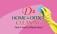 Pre-List, Move in/out & Regular Cleaning available now!