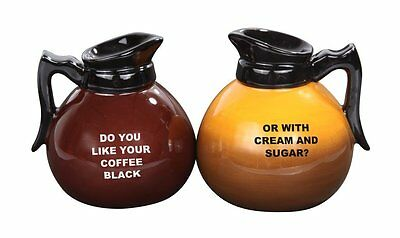 Coffee Pots Ceramic Salt and Pepper Shakers Set Magnetic Attracted Kitchen decor