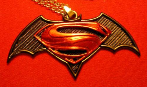 Stainless Steel Batman vs Superman Film Pendant Necklace #2052
