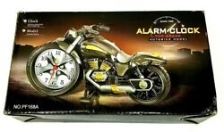 Motorcycle  Model AutoBike Vintage Harley Davidson Gold Analog Desk Alarm Clock