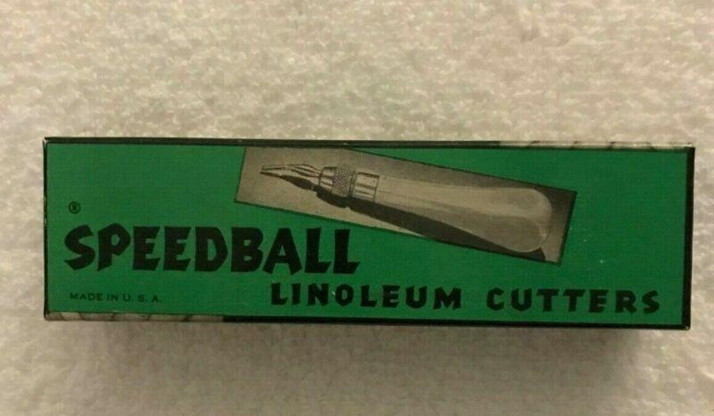 Vintage Speedball Linoleum Cutters Block Cutter #1 In Original Box
