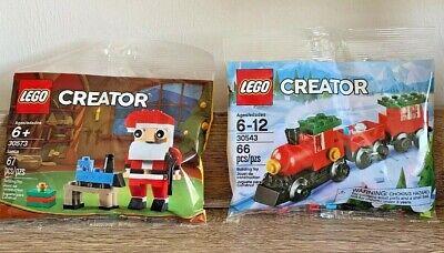 LEGO CREATOR - 30543 Christmas Train - RARE & 30573 Santa NEW Holidays Lego