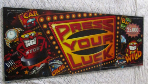 "Very Rare ""Press Your Luck"" Gameshow Slot Machine Belly Glass"