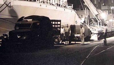 1940s Edw STEICHEN-type Silver PHOTOGRAPH -Amazing Scene of NAVY SHIP at NIGHT