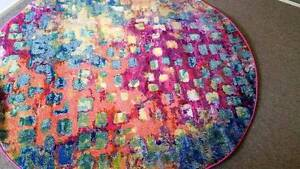 Round Casablanca Rug NEW $170 RRP $1196 South Windsor Hawkesbury Area Preview