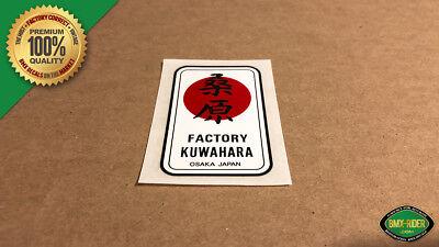 """Black Kuwahara /""""POWER/""""  BMX Decal Sticker for Bravo Pro Team Magician EX"""