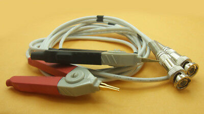 1 Pair Resistance Test Meter Tester Multimeter Pen Bnc Lcr Kelvin Clip Cable