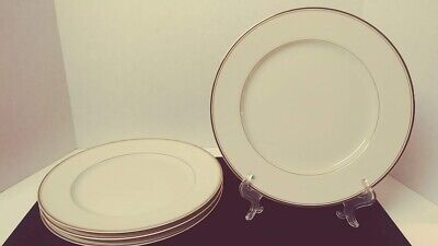 Vintage Mikasa Ivory Trousdale L2801 Set of 4 Dinner Plates 10.75