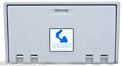 Allied Hand Dryer Private Label Baby Changing Station Gray Horiz Ahd100-01
