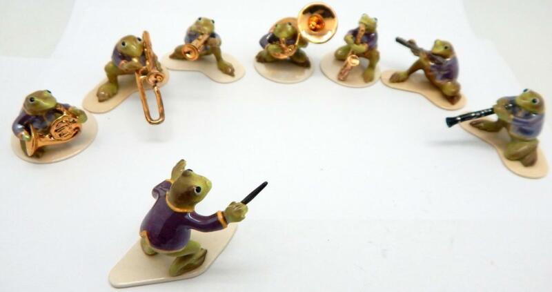 Hagen Renaker Specialties Complete 8 Piece Todally Brass Band