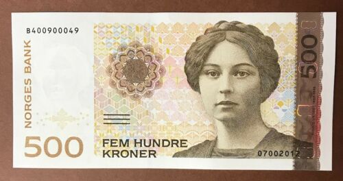 NORWAY 500 Kroner 1999-2015 *Sigrid Undste* P-51 UNC Banknote