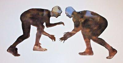 Two Wrestlers METAL WALL ART DECOR